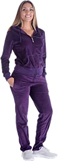 Velour Tracksuit Womens 2 Piece Outfit Zip Up Hoodie Sweatshirt and Jogger Pant Sweatsuits Set