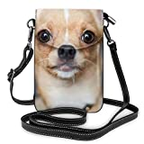 Cute Funny Chihuahua Dog Iphone Hiking Multipurpose Shoulder Bag - Passport, Credit Card Removable Shoulder Strap, Jewelry Bag Wristlet Convertible Cross Body Bag