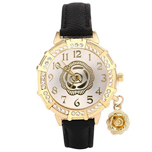 Rose Anhänger Gürtel Punktbohrer Uhr YunYoud marken skelettuhr stylische metallarmband solaruhr modern spangenuhr multifunktionsuhr automatik handuhr chronograph armbanduhr
