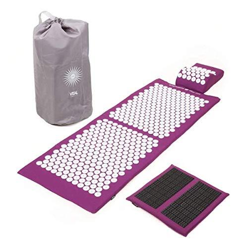 Akupressur-Set VITAL DELUXE XL SPIKY: Akupressur-Matte (130 x 50 cm), Kissen und -Fußmatte im günstigen Set, vitalisierend, für den Rücken und Nacken