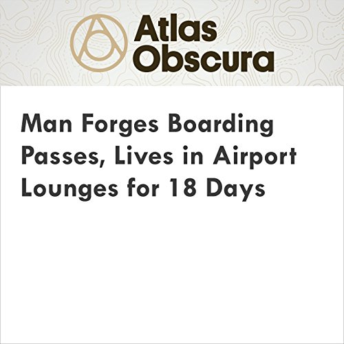Man Forges Boarding Passes, Lives in Airport Lounges for 18 Days audiobook cover art