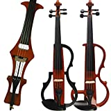 Aliyes Handmade Silent Electric Violin 4/4 Full Size Professional Student Violin For Beginner