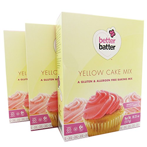 Better Batter Gluten Free Yellow Cake Mix 18.25 oz (Pack of 3)