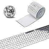 MOVKZACV 1464pcs/roll Mini cuadrado de cristal impermeable autoadhesivo espejo...