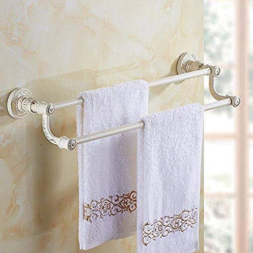 Y-longhair barra de pared del carril de pared Bastidores ferroviarios percha de un soporte blanco de pintura blanca baño de oro, más soporte de hardware baño conjunto colgante de baño estante de toall