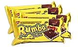 PACK de 4 paquetes Galletitas RUMBA de BAGLEY. Galletitas Dulces rellenas sabor a Chocolate con relleno sabor coco.