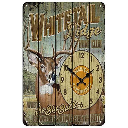 GVFDNTFRF Ciervo Vintage Cartel de Chapa Cartel de Placa de Metal Pin Up Shabby Home Signs Bar Cafe Hierro Pintura 20x30cm 3