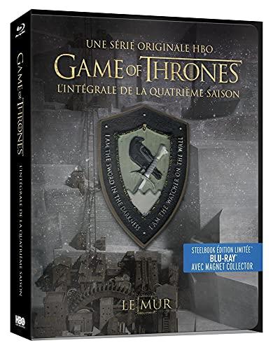 Game of Thrones (Le Trône de Fer) - Saison 4 - Edition limitée Steelbook - Blu-ray - HBO [SteelBook édition limitée - Blu-ray + Magnet Collector]