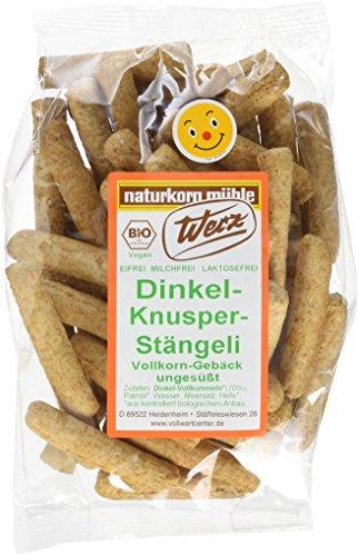 Werz Dinkel-Knusper-Stängeli ungesüßt, Vollkorn-Gebäck, 125 g
