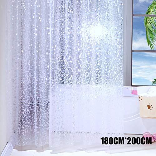 Venus valink Duschvorhang, halbtransparent Wasserdichter Duschvorhang, Kopfstein-Muster, Badedekor, Duschvorhang, Duschvorhang, 180cmx200cm
