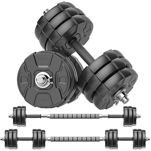 Anti Rolling Fitness Dumbbells HSYL001-30 Two in One Iron Sand Mixture DlandHome Adjustable 66 Pounds Dumbbells