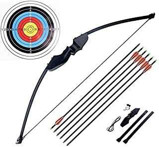 Ationgle Archery Recurve Bow Set - 30 lbs Draw Weight Bow Set with Wooden Riser and Fiberglass Limbs for Right Handed Adul...