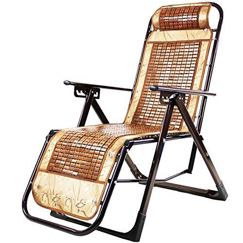 Lunch Break Chair Hospital Cama de Acompañamiento Silla Perezosa Tres Plegable Silla Mahjong Sofá de Ocio Bambú Plegable Ajustable Tres Puestos Oficina Comprar un cojín de algodón Hoy (Color : A)