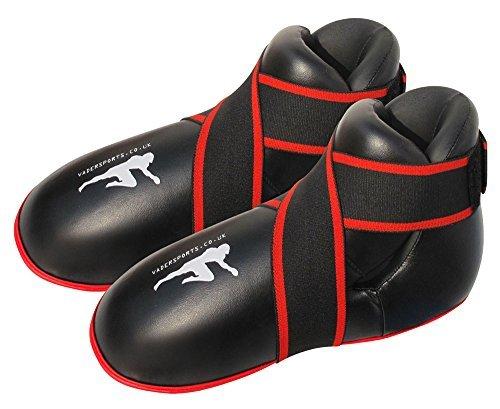V-SPORTS Fußpolster für Kickboxen, für Kinder und Erwachsene, Schwarz