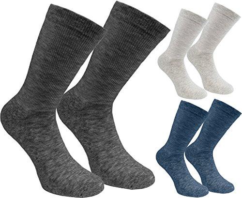 Brubaker 6 Paar Herren Socken - Lenzing Modal - Grau, Blau, Silber - Größe 41-46