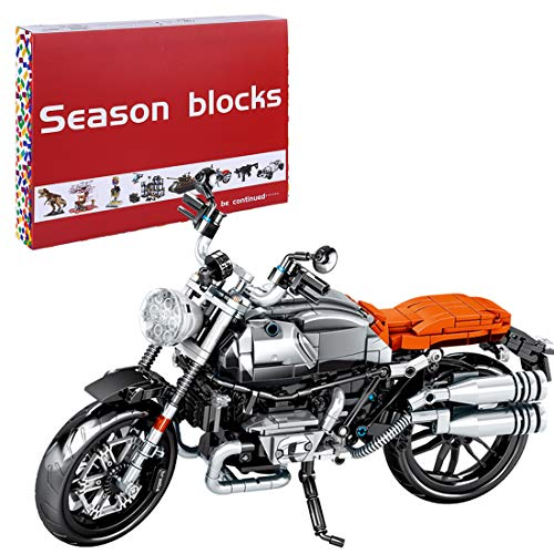 NFtop Technik Motorrad Modell für BMW R Nine-T, Motorrad Bauset Kompatible mit Lego Technic - 886 Teile