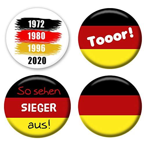 Polarkind voetbal Europees kampioenschap 4-delige set 2020 Duitsland fan EM buttons aansteker