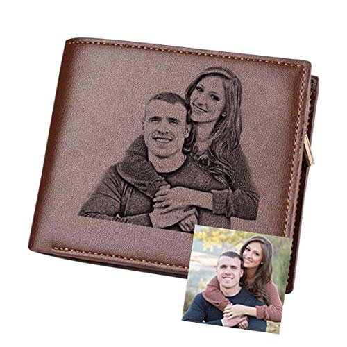 Carteras Personalizadas con Foto,Carpeta del Cuero para Hombre Tarjeta