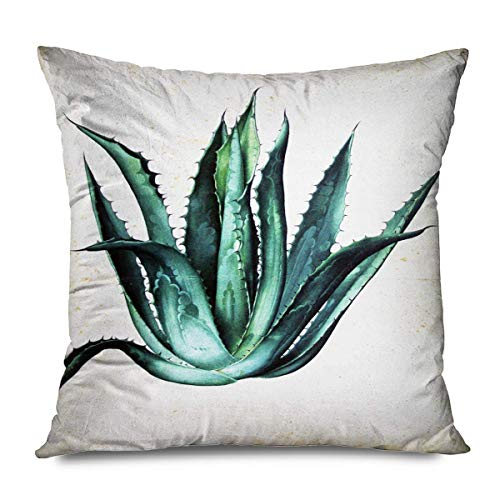 Florals Throw Pillows Cushion Cover for Bedroom Sofa Living Room Spring Flower Language North Europe Small Fresh Modern Minimalist Rural Floral Green Slender Leaf Pillowcase 16X16 Inch
