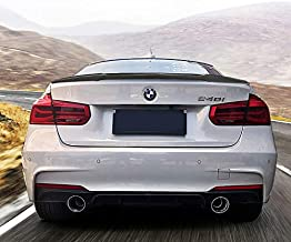 Trunk Spoiler for BMW 3 Series Sedan F30 2012-17 328i 335i 320i 316i 318i 318d 340i 330e M Style Carbon Fiber Rear Tail Lip Deck Boot Wing Glue, Easy Install
