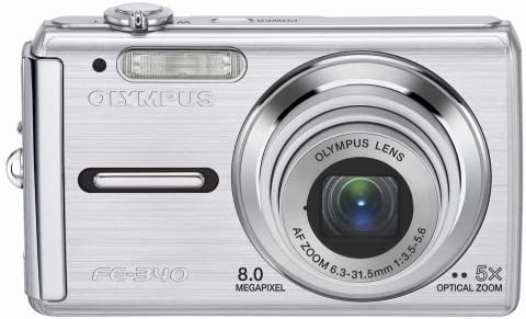 Olympus FE-340 8MP Digital Camera specialty shop Max 69% OFF Silver 5x Zoom with Optical