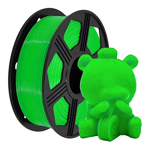 Green PLA Filament Wire, Plastic PLA 1kg 1.75mm, 3D Printer Filament, 3D Printing Material, Excellent Toughness, Non-Toxic