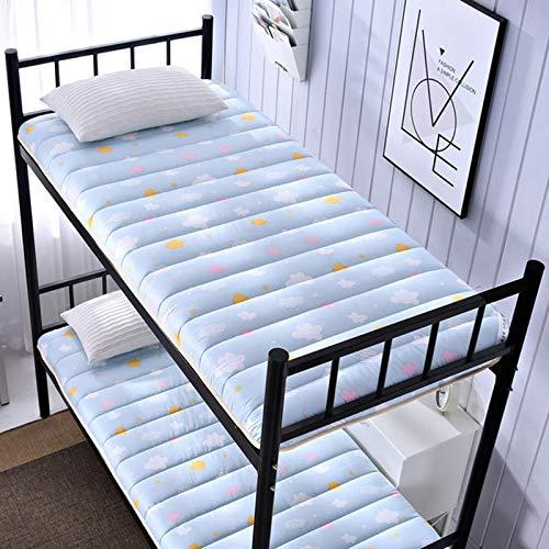 HKD Dormitory Mattress Folding, Double Single tatami mattress, Soft thick Futon Japanese floor mat Mattress Rollable (Color : E, Size : 120×200CM)