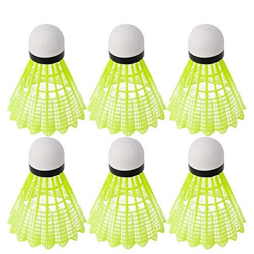 Naiart QiYundg, volano, 3/6/12 pezzi, palloni da allenamento in plastica durevole per interni in nylon, 12 pcs