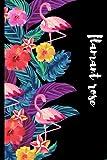 flamant rose: cahier doublé pour filles, enfants, femmes, soeur, fille, maman, grand-père qui aime les ... femmes amoureux des flamants roses, ... animaux/'6 * 9' avec couverture souple,140
