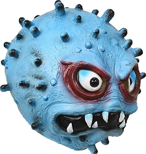 Milu deer Máscara Virus Accesorios Propaganda Antiepidémica, Máscara Disfraces Halloween, Accesorios para La Cabeza Cosplay para Fiesta Halloween (Color : Azul, Size : One Size)