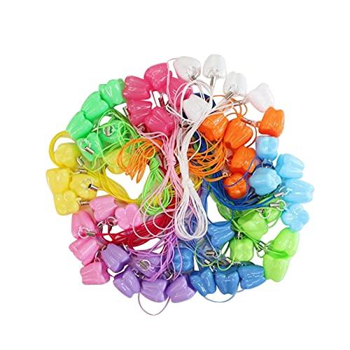 Matedepreso 50 contenitori per denti, colorati e simpatici contenitori per denti da latte per bambini, per conservare i ricordi dentali, per bambini, multicolore