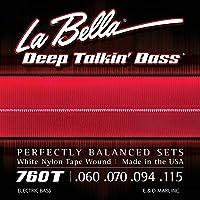 LA BELLA (ラベラ) ベース弦 760T White Nylon Tape, Standard 60-115