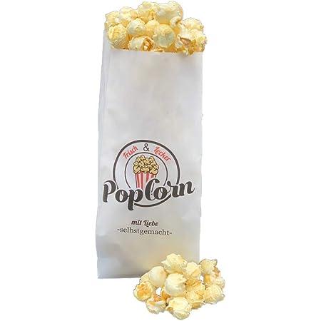 100 Popcorn Probiertüten oder Beutel aus Papier mit Lausbub
