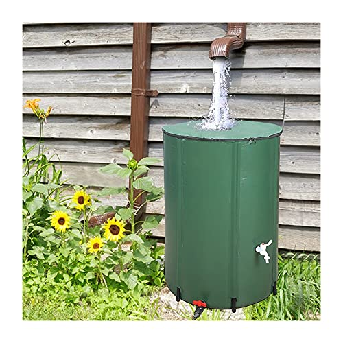 YAYADU-Storage Basket Barril De Lluvia Portátil, Contenedor De Agua, 0,6 Mm con Filtro De Espiga para Senderismo/Camping/Pesca/Viajes, Fácil De Usar (Color : Green, Size : 200L/60x70cm)