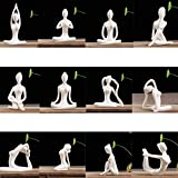 HUIJUNWENTI Set 12pcs Yoga Postura Figurita de sobremesa del Ornamento de la Estatua por Home Office...