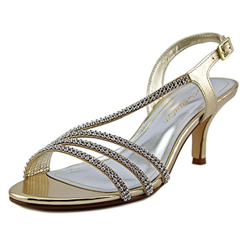 Caparros Womens Bethany Open Toe Special Occasion, Gold Metallic, Size 7.0
