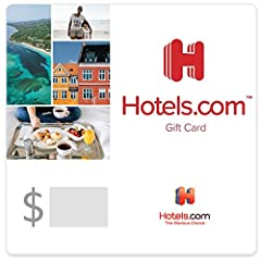 Useable up to balance only for hotel bookings at hotels.com/gc. Not redeemable at hotel locations or if you choose the Pay at Hotel option online The Hotels.com Gift Card is redeemable on bookings at over 150,000 hotels in 200 countries worldwide Red...