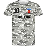 Styletex23 Nation - Camiseta de camuflaje para Yugoslavia (número 10) camuflaje XL