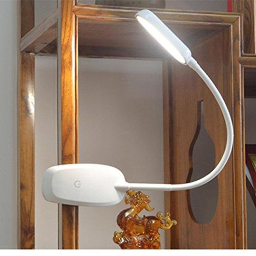 Lampe de table F Lampe de bureau de protection des yeux LED 5W lampe de chevet de chambre à coucher Lampe de table LG Dimmer