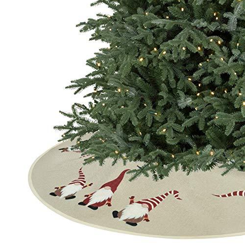 Sevenstars 36 inches Christmas Tree Skirt, Burlap Santa Xmas Tree Skirt for Christmas Decorations Indoor Outdoor