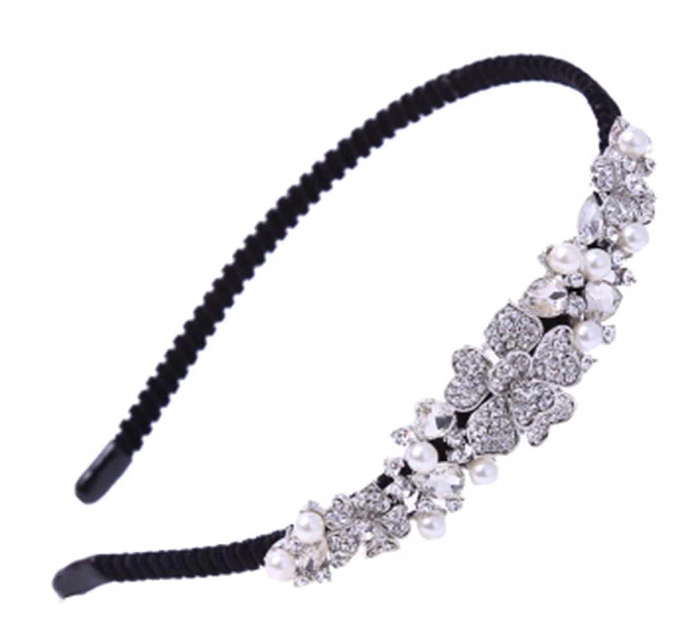 封筒うそつき透明に白いラインストーン髪のフープの弓のヘッドバンドのフープファッション髪の装飾品