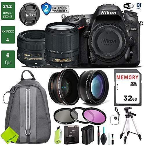 Check Out This Nikon D7200 DSLR Camera 18-140mm VR Lens Bundle (18-140mm VR & Nikon 50mm f/1.8G, 2 Year Extended Warranty)