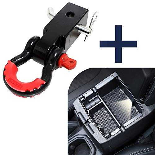 LIBERRWAY Shackle Hitch Receiver 2 inch 41918 Lbs Break Strength Never Rust Receiver Shackle Bracket Heavy Duty and Solid with 3//4 D Ring Shackle Towing Accessories for Trucks