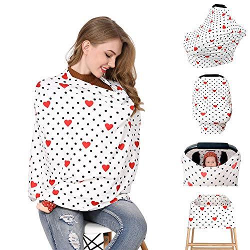 WXG1 Couverture des Soins Infirmiers, l'allaitement Couverture écharpe, Poussette de bébé/Voiture Commercial Seat Cover, Coton Premium, légère Respirante, utilisé pour Kid