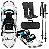 Best Snowshoes - Odoland 4-in-1 Snowshoes Snow Shoes for Men Review