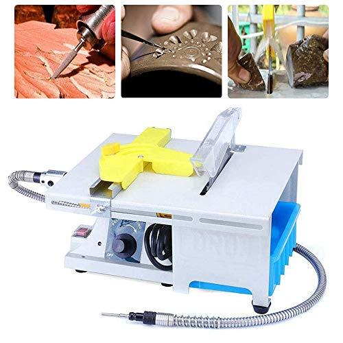 Professional High-Precision Jewelry Polishing Saw Kit, Water Cooling Gem Polishing Machine, Mini Table Saw Kit for Gem Rock Cutting & Polishing