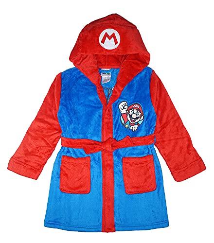 Super Mario Boys Costume Plush Robe, Mario , 10/12