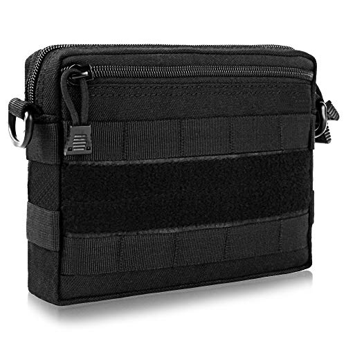 FUNANASUN Tactical Admin Molle Pouch EDC EMT Utility Bag Compact Water-Resistant Pouches Multi-Purpose Tool Packs (Admin Pouch (Simple))