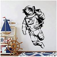 UYEDSRウォールステッカー宇宙飛行士ユニバースウォールステッカーデコレーションキッズルームサムアップビニールリビングルームモダンホームデコレーション57x105cm