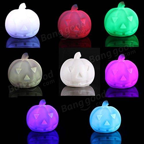 Bazaar Lampes créatives coloré LED lumière citrouille nuit cadeau Halloween